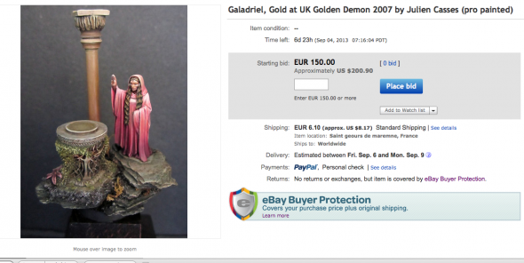 Galadriel : Gold GD UK 2007 on Ebay !