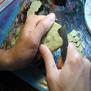 Fabriquer de la roche (mélange Fimo/Milliput)